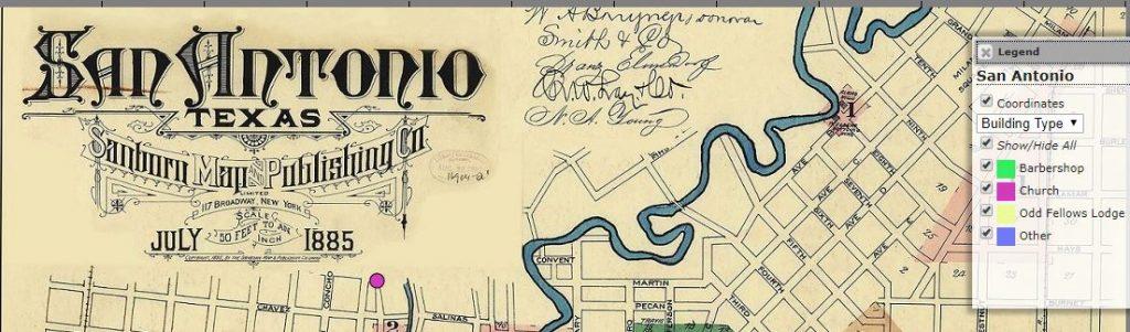 SA Map July 1885